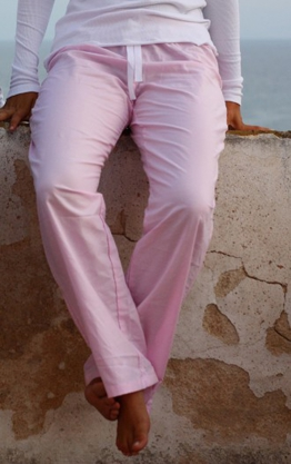 Homewear Oxford color rosa y blanco